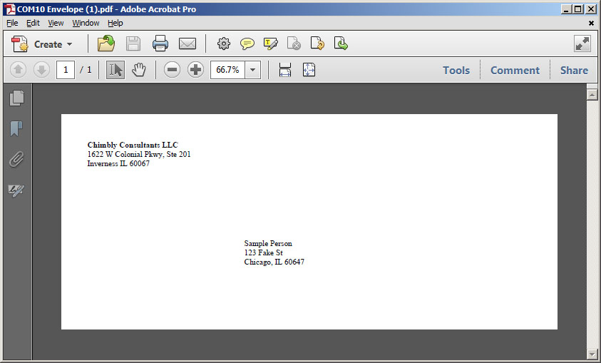 Sample Envelope